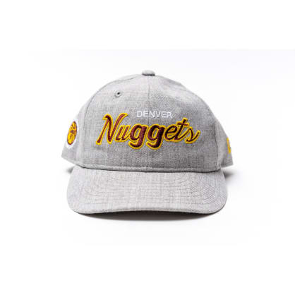 303 Boards - New Era Nuggets Hat Retro Crown Fit (Grey)