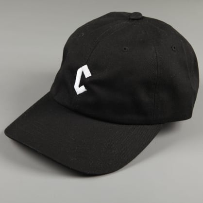 Chrystie 'Small C' 6 Panel Dad Hat (Black)