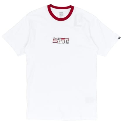 Vans x Baker Speed Check T-Shirt - White / Cardinal Red
