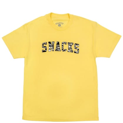 Quartersnacks Varsity T-Shirt - Light Yellow