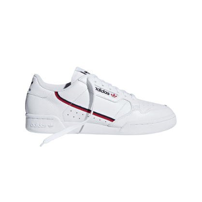 adidas Continental 80 Shoes - Cloud White / Scarlet / Collegiate Navy