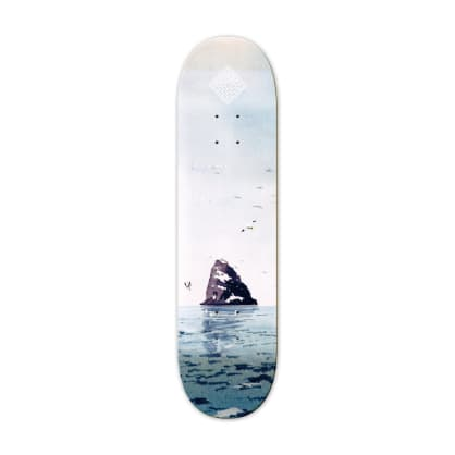"The National Skateboard Co. - 8.25"" Black Rock Skateboard Deck - (High Concave)"