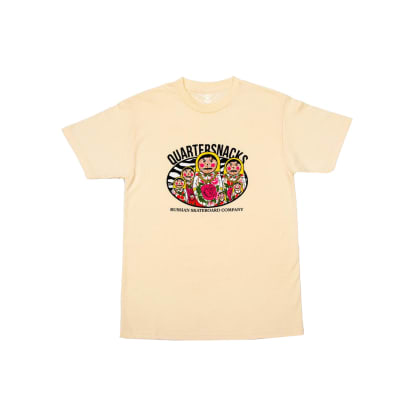 Quartersnacks - Russian Doll Tee - Cream