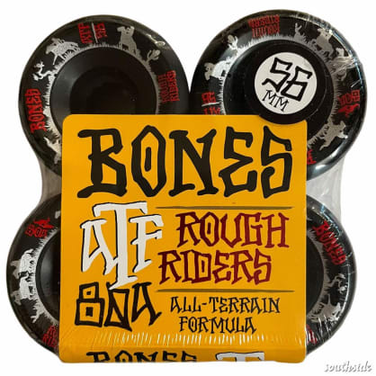 Bones Wheels Rough Rider Wranglers Black ATF 56mm