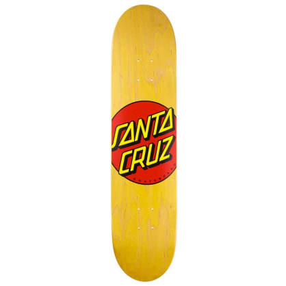 Santa Cruz Classic Dot Yellow Stain Skateboard Deck - 7.75