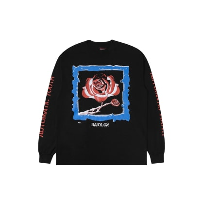 "BABYLON LA - ""AUTOMATIC YOUTH LONG SLEEVE T-SHIRT"" (BLACK)"