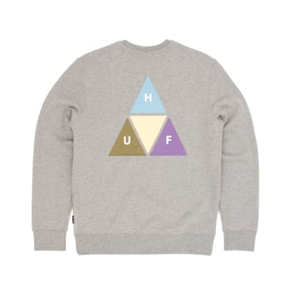 Huf Prism Trail Crew Sweatshirt - Grey Heather