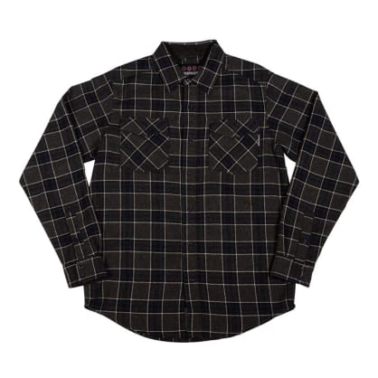 Independent - Hatchet Long Sleeve Flannel (Grey/Black/Charcoal)