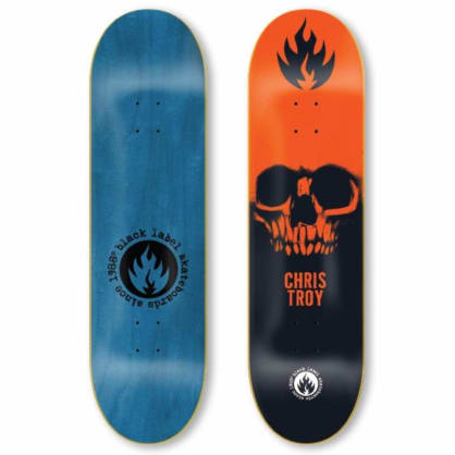 Black Label Troy Skull Deck 8.5