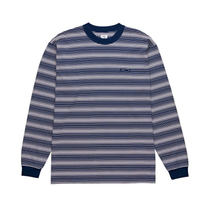 Polar Skate Co. Gradient Long Sleeve T-Shirt (Navy-Pale Pink)