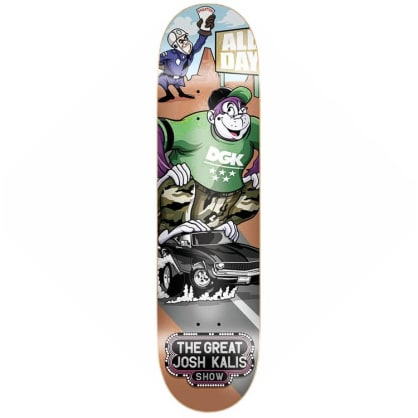 DGK Skateboards Josh Kalis Saturday Morning Skateboard Deck 8.1""