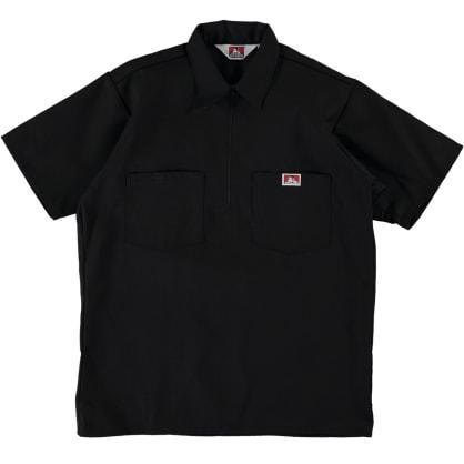 Ben Davis - S/S Half-Zip Work Shirt - Black