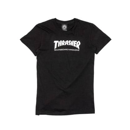 Thrasher Womens Skate Mag Logo T-Shirt - Black