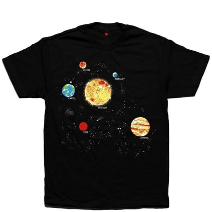 Free Skate Mag Solar System T-Shirt - Black