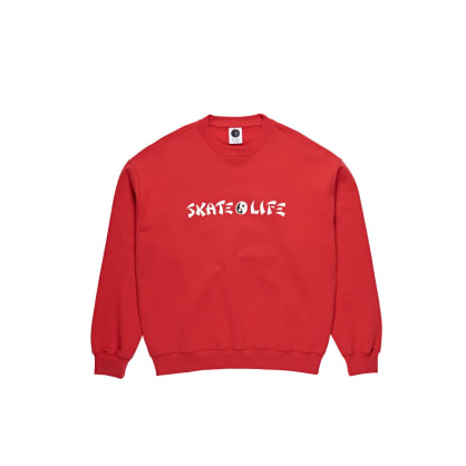 Polar Skate Co Skatelife Crewneck - Red