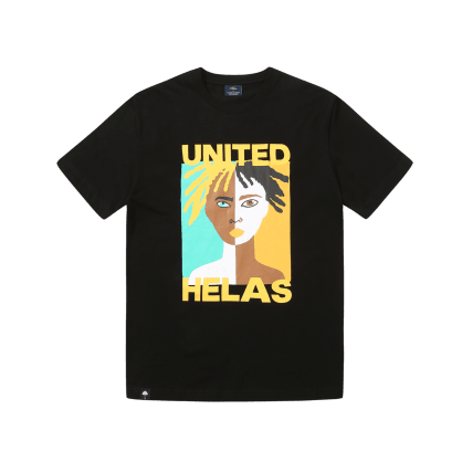 "HELAS-""UNITED T-SHIRT""(BLACK)"