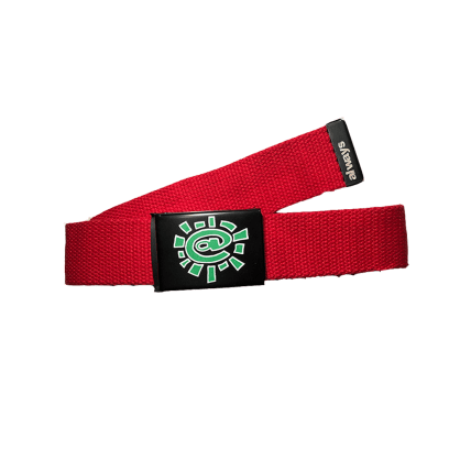always do what you should do - red silk screen belt