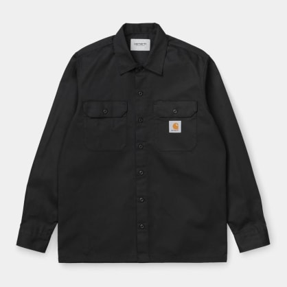 Carhartt WIP Master Shirt Long Sleeve Black