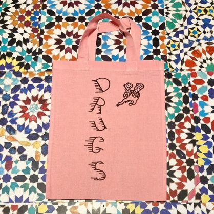 Drug Store mini tote pink drugs mouse