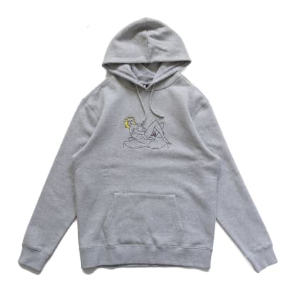 Woman On The Chair Hoodies_Washed Orange