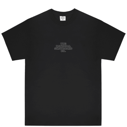 The National Skateboard Co Classic Logo T-Shirt - Black