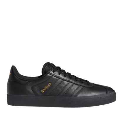 adidas Skateboarding Gazelle ADV Shoes - Core Black / Core Black / Gold Met