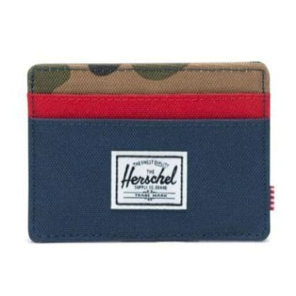 Herschel Charlie Wallet Navy/Camo