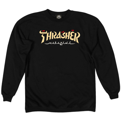 Thrasher Calligraphy Crewneck - Black