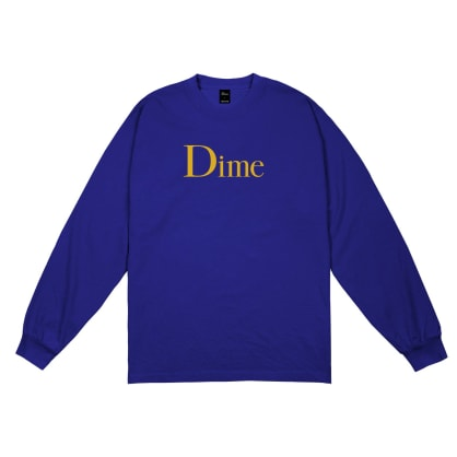 Dime Classic Logo Long Sleeve T-shirt - Royal Blue
