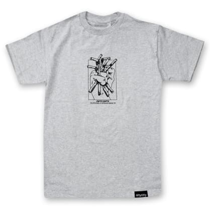 Fifty Fifty Clutching at Straws T-Shirt Heather Grey