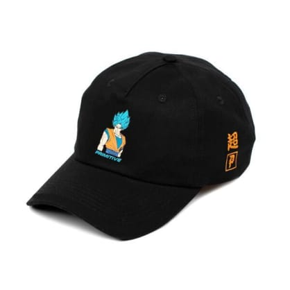 PRIMITIVE DBZ Super Goku Strapback Hat Black