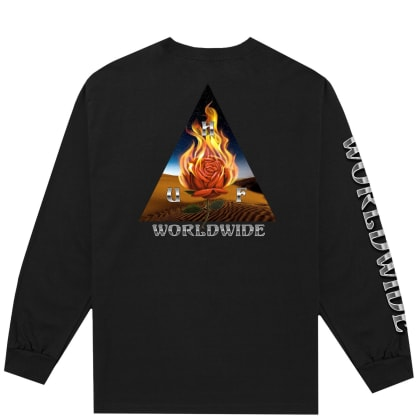 HUF Ember Rose Triple Triangle Long Sleeve T-Shirt - Black