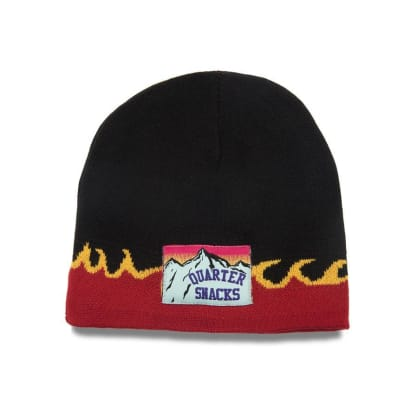 Quartersnacks Flame Beanie - Black