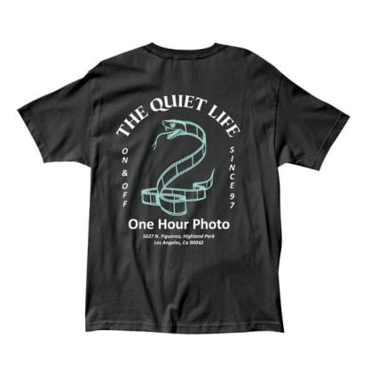 QUIET LIFE Snake Film Tee Black