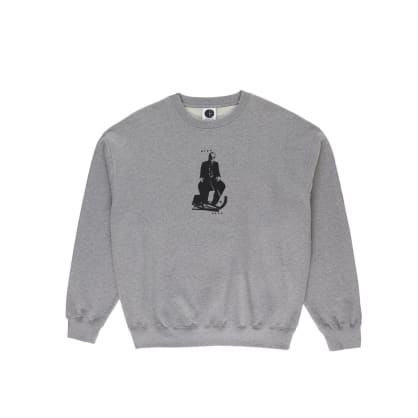 Polar Skate Co Brain Blower Crewneck - Heather Grey
