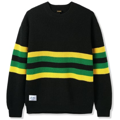Butter Goods Moor Sweater - Black / Yellow / Green