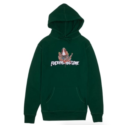 Fucking Awesome - Nightmare Pullover Hooded Sweatshirt - Hunter Green