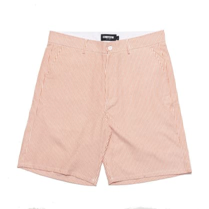 Chrystie NYC Stripe Shorts - Orange