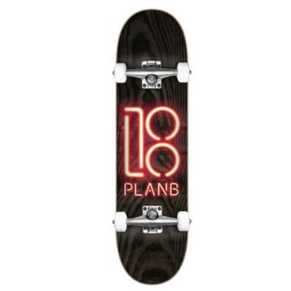 Plan B Neon Sign Complete Skateboard - 8""
