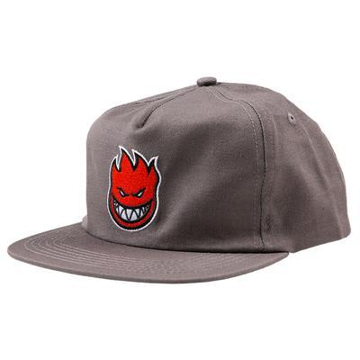 SPITFIRE BIGHEAD FILL SNAPBACK HAT - GREY RED