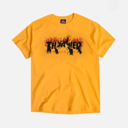 Thrasher Crows Tee Gold