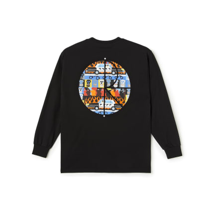 Polar Skate Co ACAB Fill Logo Long Sleeve T-Shirt - Black