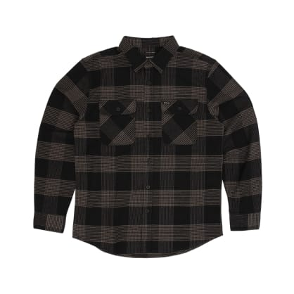 Brixton Bowery Long Sleeved Shirt - Black/Steel