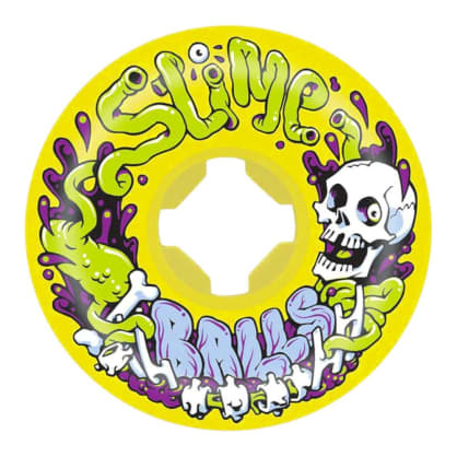 Santa Cruz Skateboards - Slime Balls Guts Speed Balls Yellow 101a 53MM
