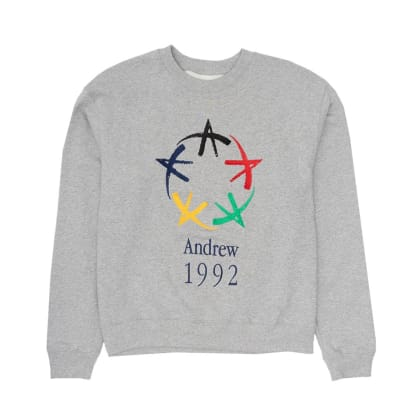 Andrew - All-Star Crewneck - Heather Grey