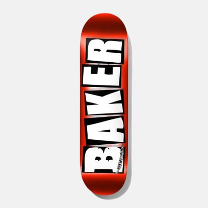 """Baker Skateboards Brand Logo Red Foil Skateboard Deck - 8"""""""