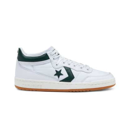 Converse Cons Fastbreak Pro Skateboarding Shoes - White/Deep Emerald/Gum