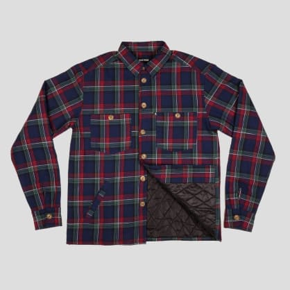 """PASS~PORT """"LATE QUILTED FLANNEL"""" JACKET NAVY"""
