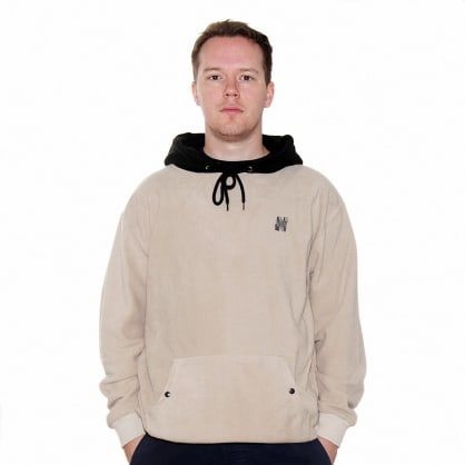 North Logo 2 Tone Fleece Hooded Sweatshirt - Sand/Black