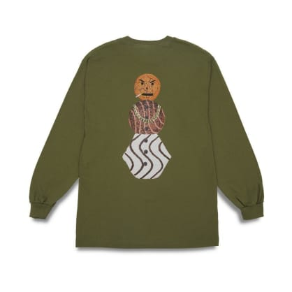 Quartersnacks Snackman Long Sleeve T-Shirt - Olive